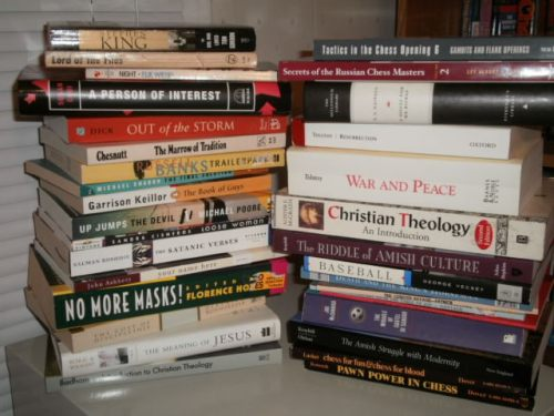 The books that I am removing from my library.