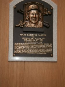Gary Carter's plaque. R.I.P.