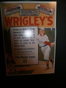 "An old Wrigley's gum ad. Who knew that chewing Wrigley's ""gives an added firmness--a vigor, to the whole body""?"