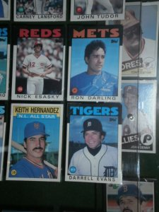Two members of the Mets current broadcasting team in the baseball card section.