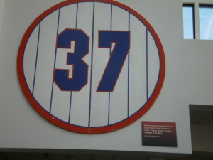 Casey Stengel's retired number from Shea Stadium.