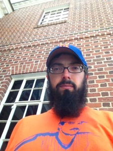 Me in front of the Hall. I'm wearing my Keith Hernandez shirt because he should be a member.